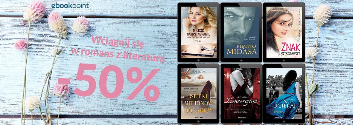 Promocja na ebooki Wciągnij się w romans z literaturą! / Novae Res -50%